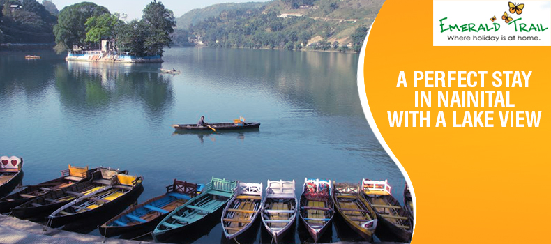 Nainital Surrounded by the majestic mountains.